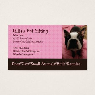 Pet Sitter Boston Terrier Business Card