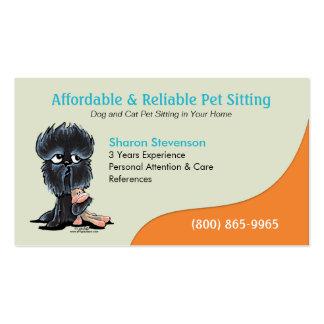Pet Sitter Dog Day Care Business Affenpinscher Business Card