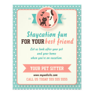 Pet Sitter Flyer - Customizable Doublesided