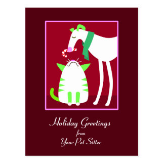 Pet Sitter Holiday Postcard