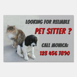 Pet Sitter Sign