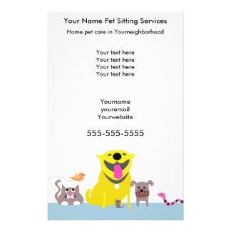 Pet Sitters Flyer-blue Flyer Design
