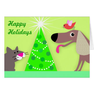Pet Sitter's Holiday Greetings Card