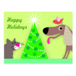 Pet Sitters Holiday Greetings Post Card