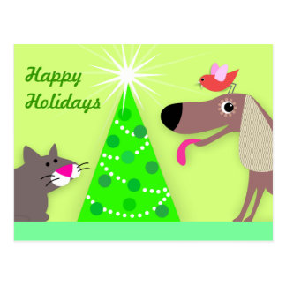 Pet Sitters Holiday Greetings Postcard