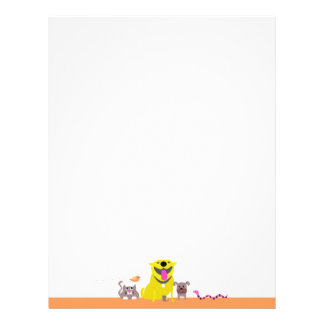 Pet Sitter's letterhead-orange Letterhead
