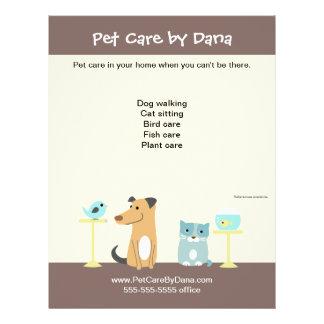 Pet Sitter's Promotional Flyer
