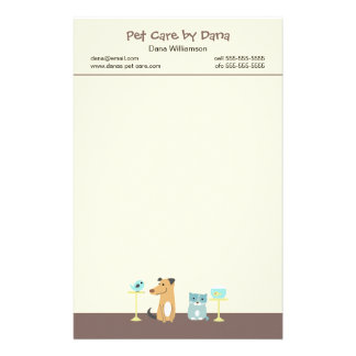 Pet Sitter's Stationery