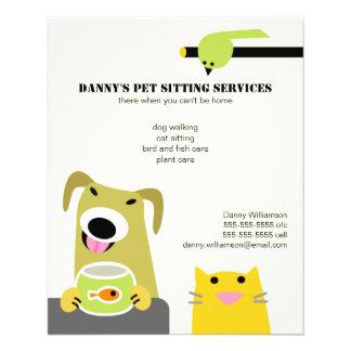 Pet Sitting Business Custom Flyer