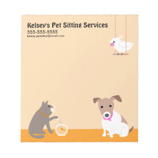 Pet Sitting Business Notepad