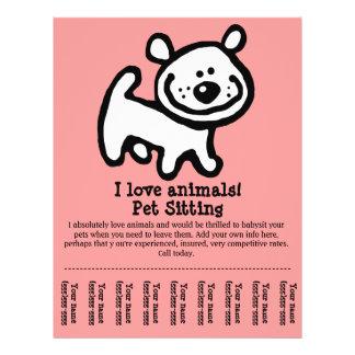 Pet Sitting, Dog Grooming, Walking, Training flyer