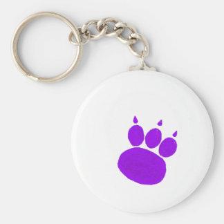 Pet Sitting Services Paw Print Basic Round Button Keychain
