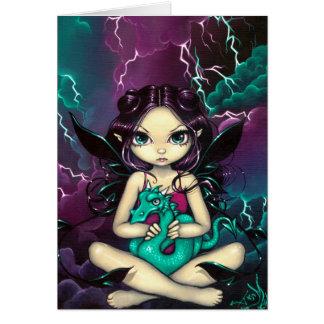 """Pet Storm Dragon"" Greeting Card"