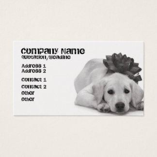Pet Supply/Groomer/Etc. Business Card