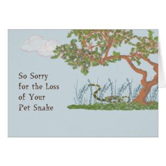 Pet Sympathy Card for Snake