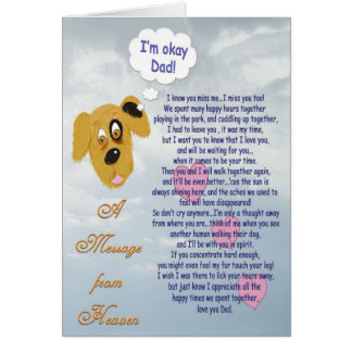 Pet Sympathy/Dog-Male owner Card