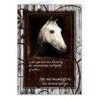 Pet Sympathy Loss of a Horse Barn Wood Card