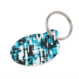 Pet Tag Blue and Black abstract digitalart G253