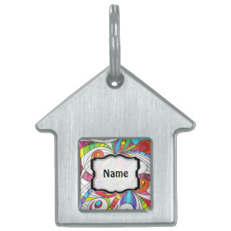 Pet Tag Floral abstract background