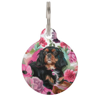 Pet TAG | 'Love' Black & Tan Cavalier Art