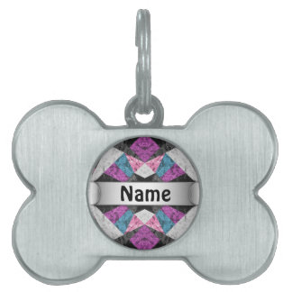 Pet Tag Marble Geometric Background G438