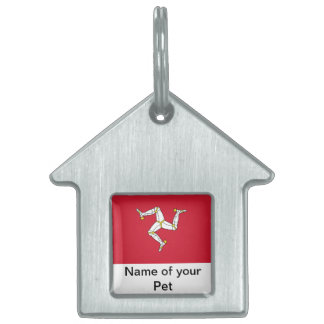 Pet Tag with Isle of Man Flag