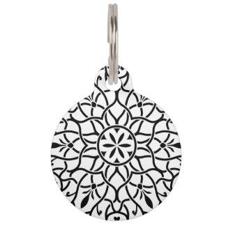 Pet tag with Mandala art