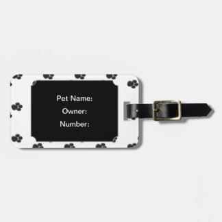 Pet Travel Luggage Tag w/ leather strap