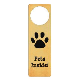 Pet Warning Door Sign Door Knob Hanger