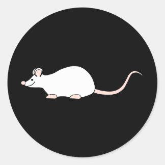 Pet White Mouse. Classic Round Sticker