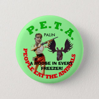 PETA, gray circle, young gun white... - Customized 2 Inch Round Button