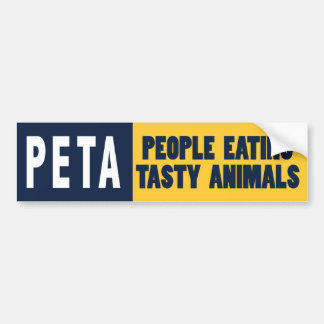 PETA People Eating Animals Bumper Sticker