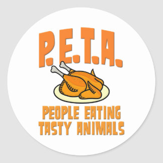 PETA People Eating Tasty Animals Classic Round Sticker