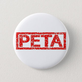 Peta Stamp 2 Inch Round Button
