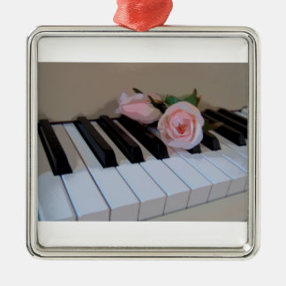 Petal Pink Keys Metal Ornament