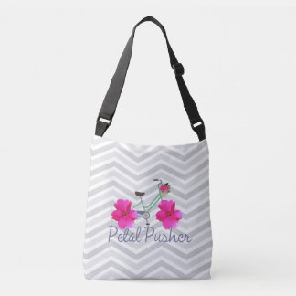 Petal Pusher Bike Chevron Tote Bag