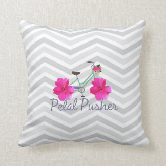 Petal Pusher  Chevron Pillow