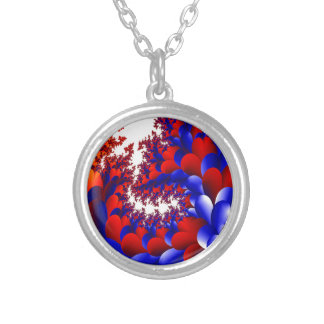 Petal With A Twist Silver Plated Necklace
