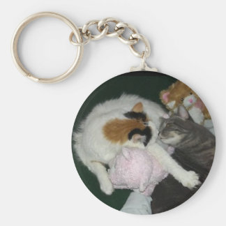 Petals and Feather snuggle key chain