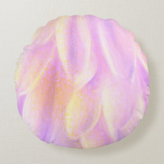 Petals Brushed Polyester Round Throw Pillow