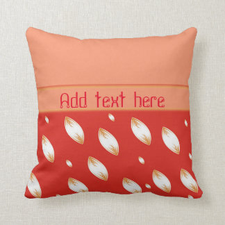 Petals in red customizable pillow