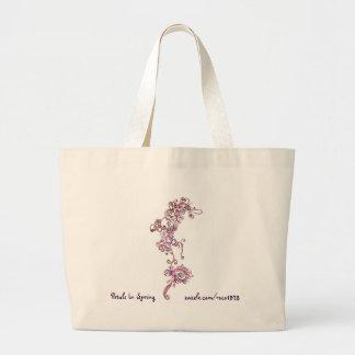 Petals in Spring Large Tote Bag