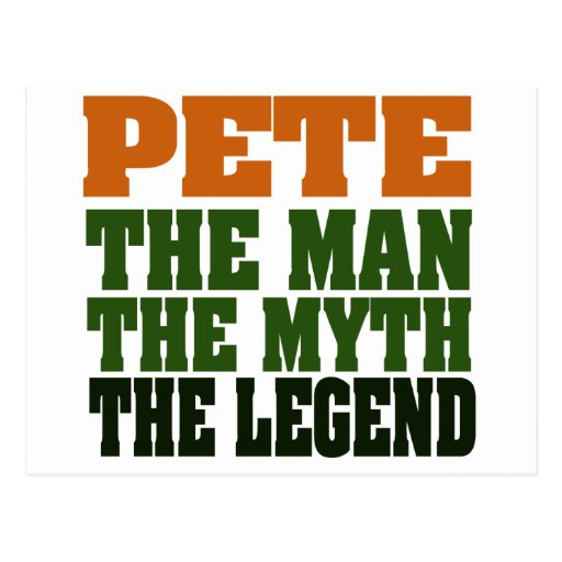 Pete - the Legend Post Card