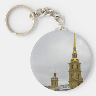 Peter and Paul Fortress St. Petersburg Russia Basic Round Button Keychain