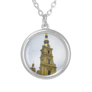 Peter and Paul Fortress St. Petersburg Russia Silver Plated Necklace