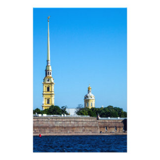 Peter and Paul Fortress St. Petersburg Russia Stationery Paper