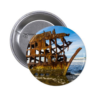 Peter Iredale Shipwreck - Oregon Coast 2 Inch Round Button