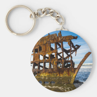 Peter Iredale Shipwreck - Oregon Coast Basic Round Button Keychain