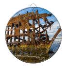 Peter Iredale Shipwreck - Oregon Coast Dartboard