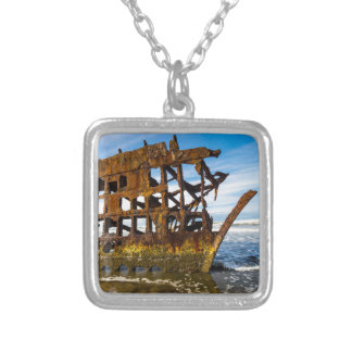 Peter Iredale Shipwreck - Oregon Coast Silver Plated Necklace